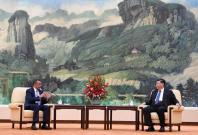 Xi Jinping with Tedros Adhanom Ghebreyesus