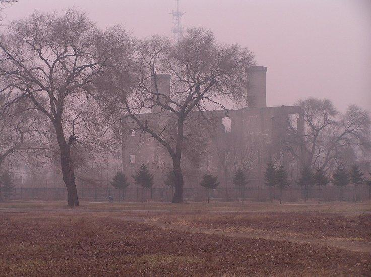 Building on the site of the Harbin bioweapon facility of Unit 731