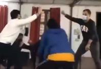 Indians dancing in quarantine center
