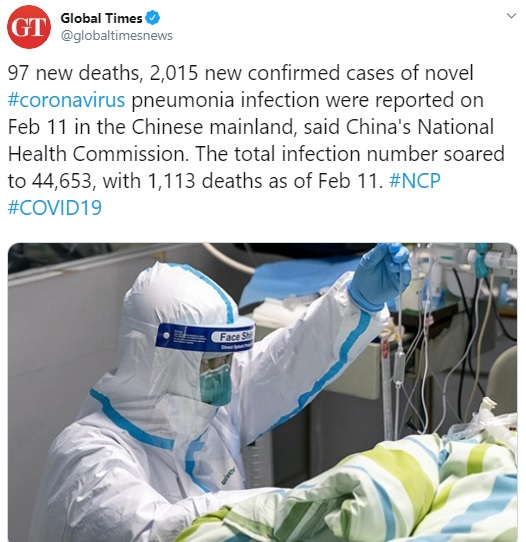 Virus death toll nears 1400 in China, with 5090 new cases