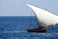 Dhow in the sea