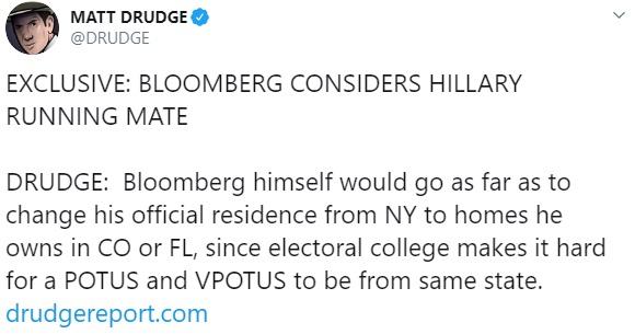 Matt Drudge tweet