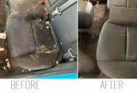 Before and after pictures of 'dirtiest car'