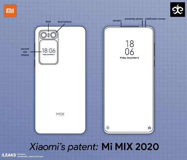 Xiaomi Mi Mix 2020 Patent