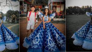 Brother creates prom dress for sister