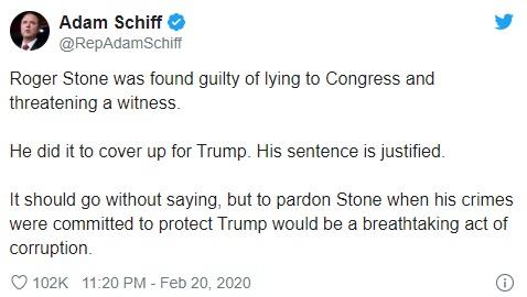 Adam Schiff tweet