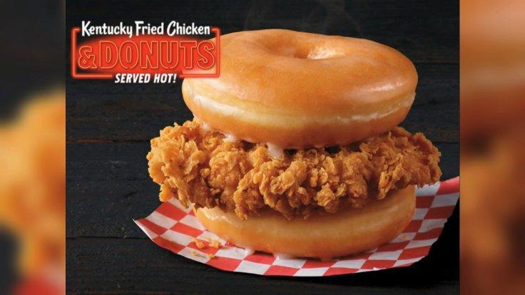 KFC fried chicken and doughnut