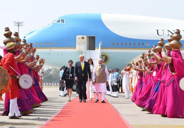 US President Donald Trump arrives India