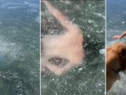 TikTok user's underwater stunt