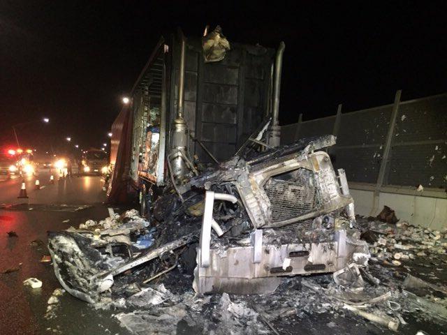 Australia Truck Fire