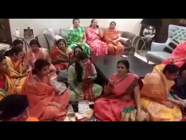 Indian women sing 'Corona bhag jao' bhajan