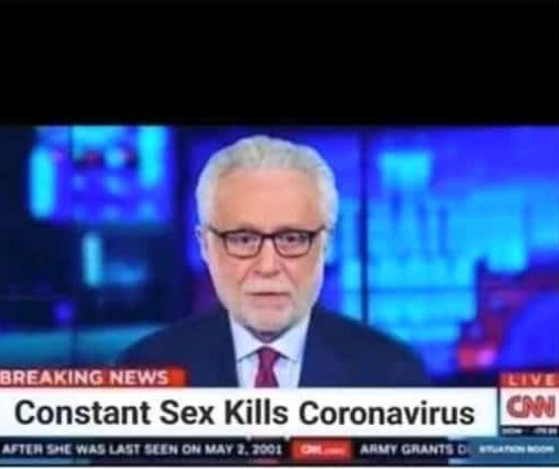 Fake CNN screenshot says constant sex kills coronavirus