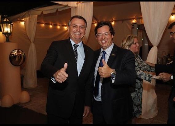 Fabio Wajngarten with Brazilian President Jair Bolsonaro