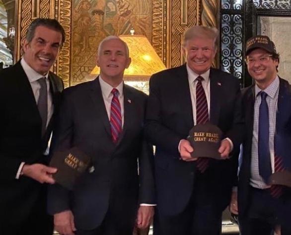 Fabio Wajngarten, Donald Trump, Mike Pence