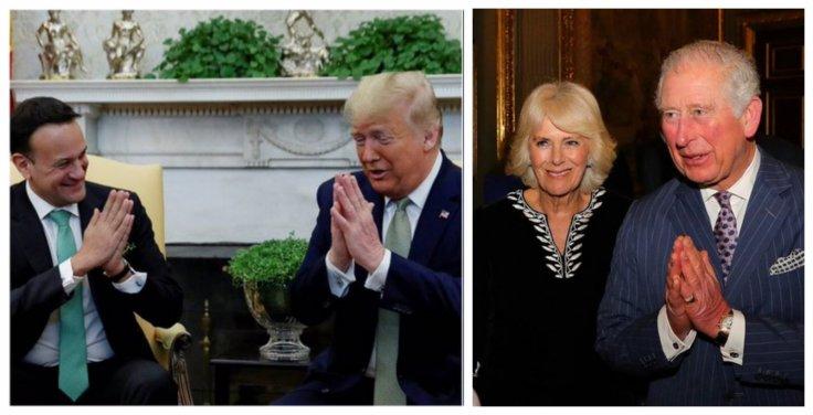 Irish Prime Minister Leo Varadkar, US President Donald Trump and Prince Charles