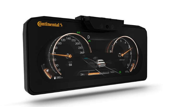 Continental's 3D dashboard display
