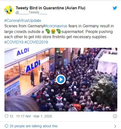Corona fake news on Twitter