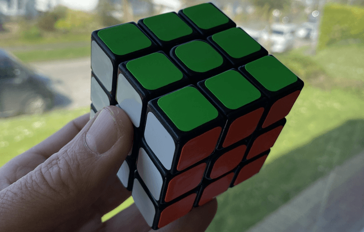 Solving a Rubik's cube can kill the time
