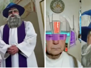 Italian priests accidentally activate Facebook filters while live-streaming prayer services; videos go viral
