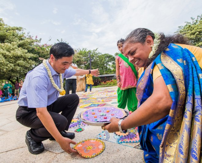 Rangoli display sets new record in Singapore amid Deepavali preparations