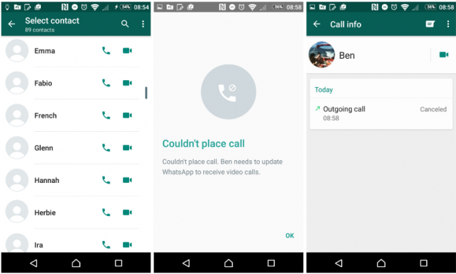 WhatsApp video calling feature now live