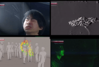 This experiment shows how quickly mirco-droplets that are invisible to naked eyes spread when a person sneezes or coughs