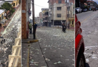 """These photos shared online with the message, """"Italians are throwing money on the streets"""" goes viral; Here's the truth"""