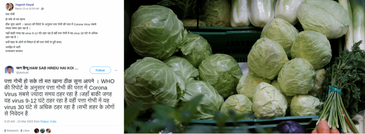 Will Coronavirus stay in cabbage for 30 hours? Debunking the truth behind viral claim
