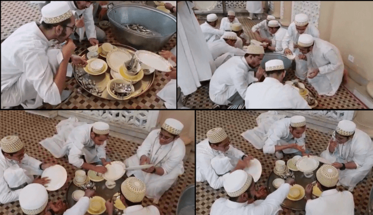 Screenshots from an old video of young Muslim men belonging to Bohra community