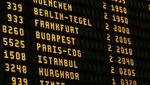 Flight timetable