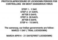 FAke message lockdown