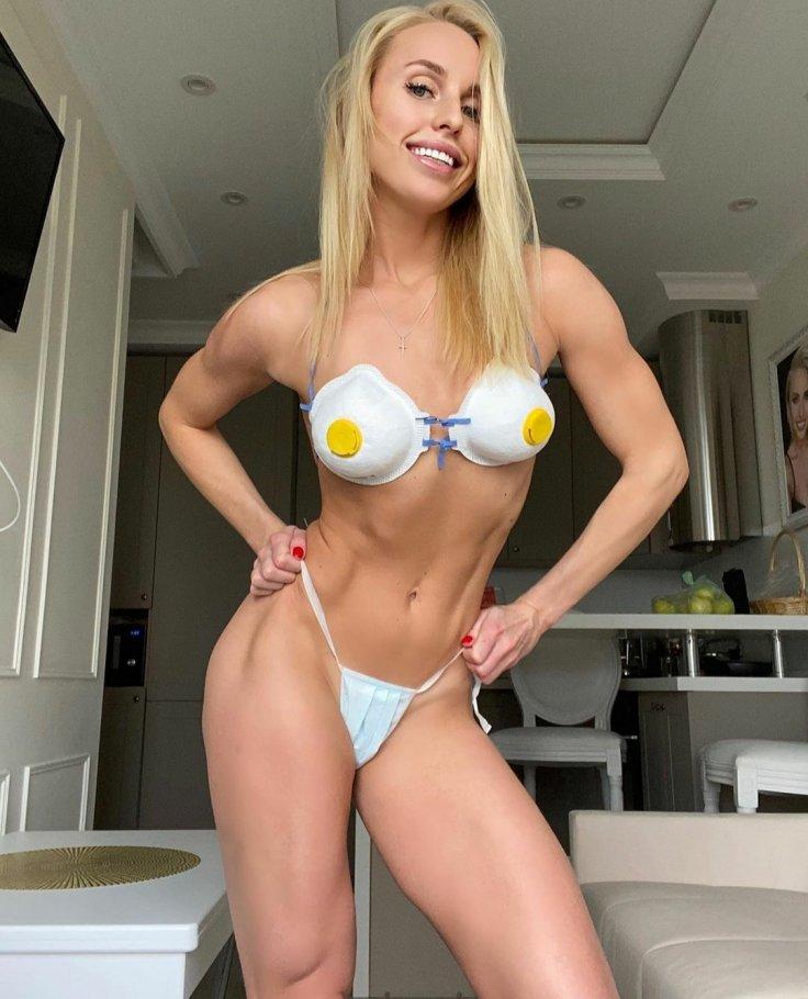 Yulia Ushakova Face Mask Bikini Quarankinis