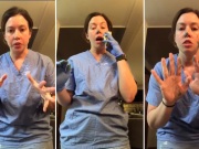 Michigan nurse demonstrates how easily germs can spread when you use gloves