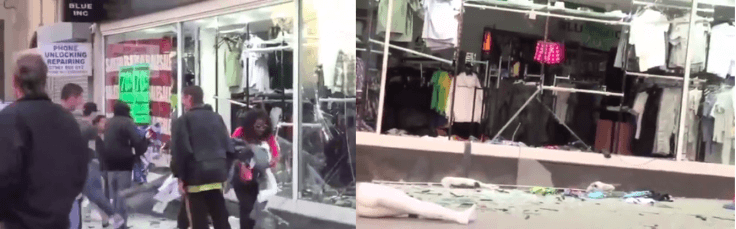 Old video of people looting shops in the UK resurfaced claiming to be a recent incident that happened amid the Coronavirus lockdown.