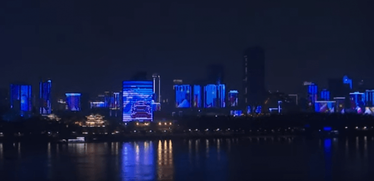 Wuhan's light show after lockdown lift