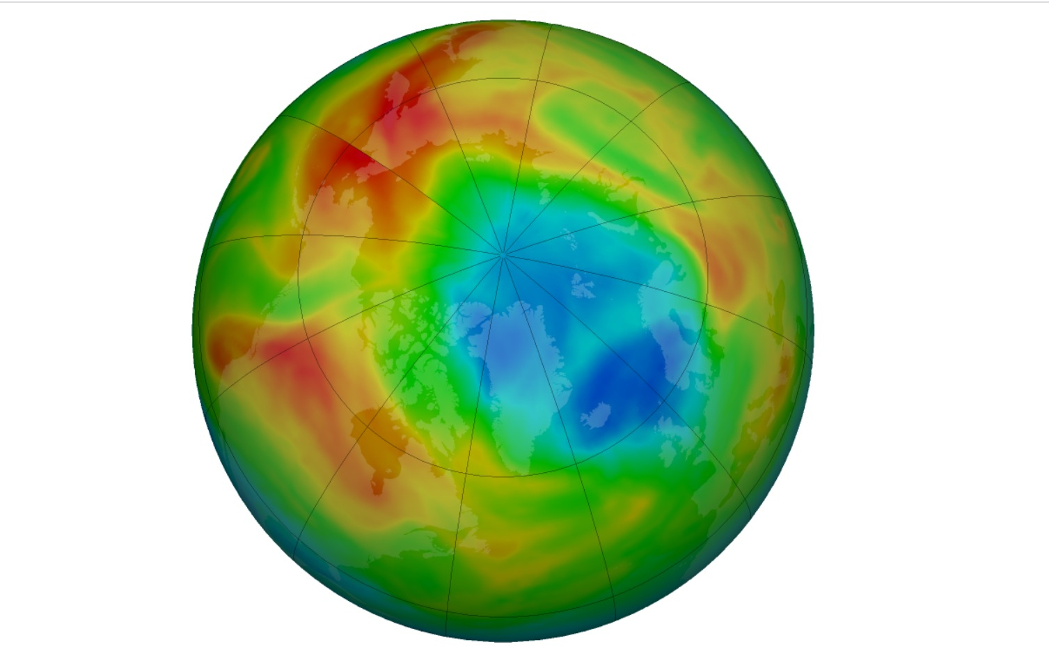 Scientists Observe An Unusual Ozone Hole Over The Arctic