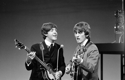 Paul McCartney and George Harrison