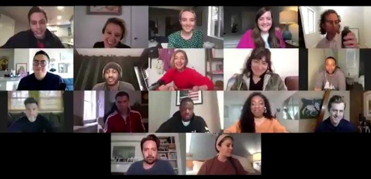 The cast of SNL on a Zoom call