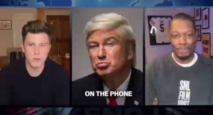Alec Baldwin appeared as Donald Trump on a phone call