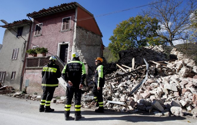 In Pictures: Double earthquake rocks central Italy leaving hundreds without shelter
