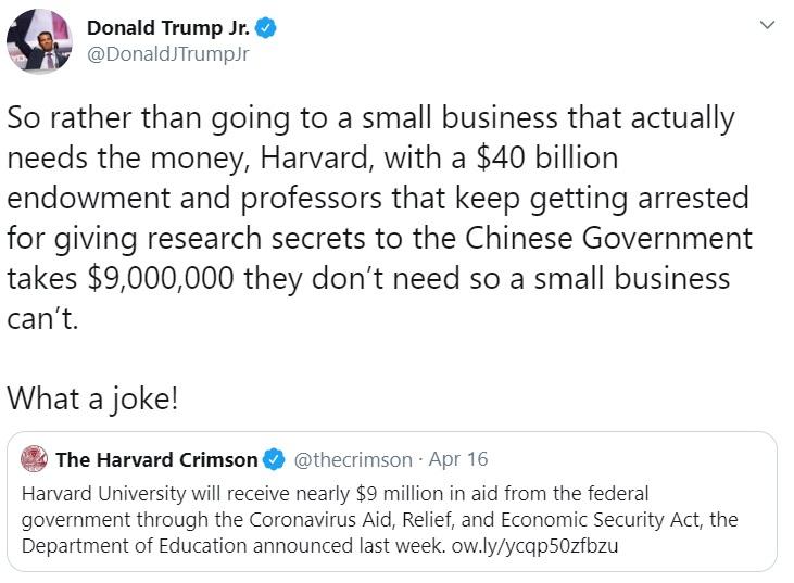 Donald Trump Jr. tweet