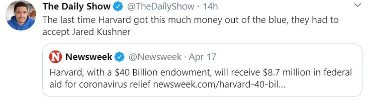 The Daily Show tweet