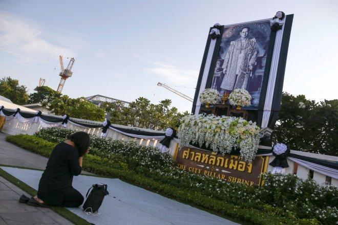 Long live the Thai King: Mourners queue outside Bangkok's Grand Palace to pay tribute