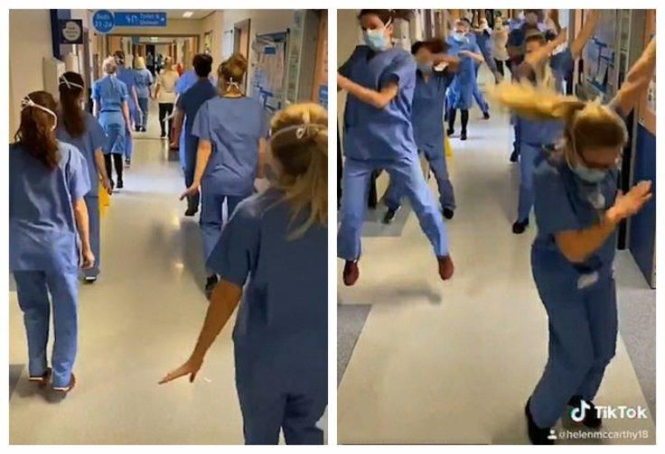 Nurses TikTok Dance At Coronavirus Hospital Ward