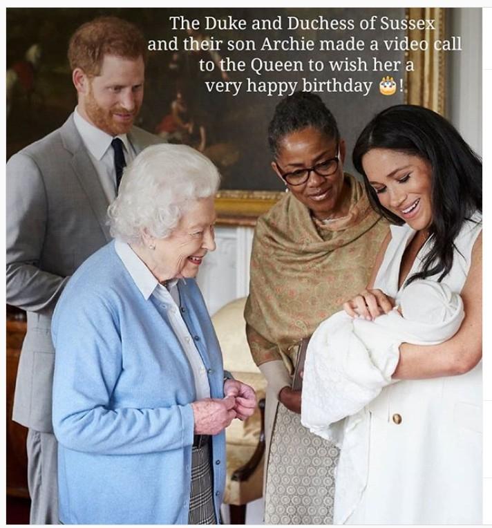 Queen Elizabeth Meghan Markle Prince Harry Archie