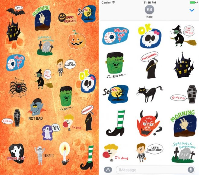 Halloween stickers for iMessage