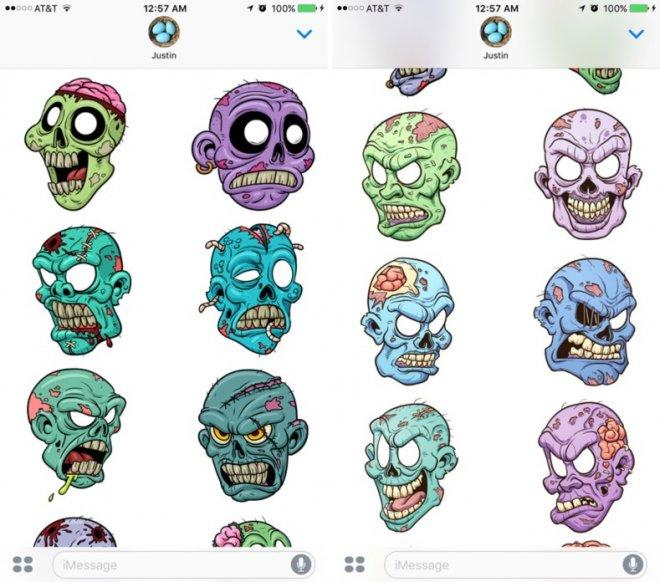 Zombie Stickers for iMessage