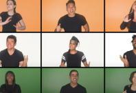 US students singing Indian national anthem