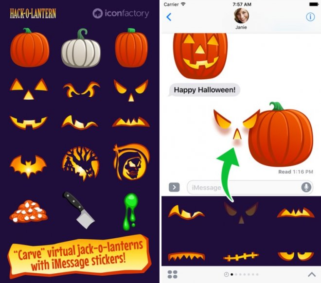 Halloween Hack-O-Lantern stickers