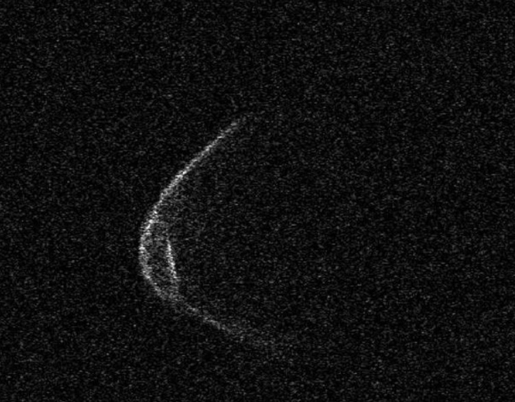 Asteroid approaching earth wears 'face mask'